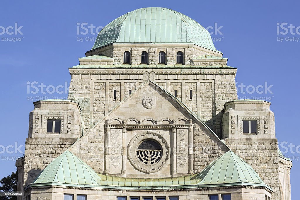 Old jewish synagogue in Essen stock photo