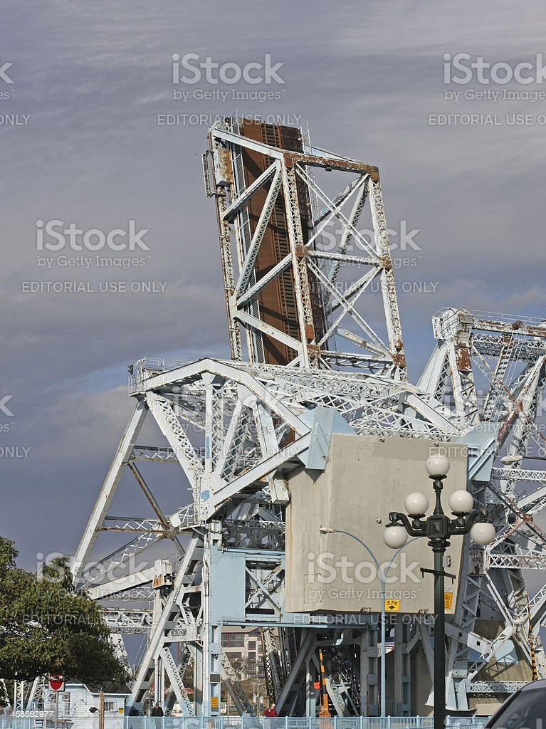 Old Johnson Street Bridge in Victoria, British Columbia, Canada stock photo
