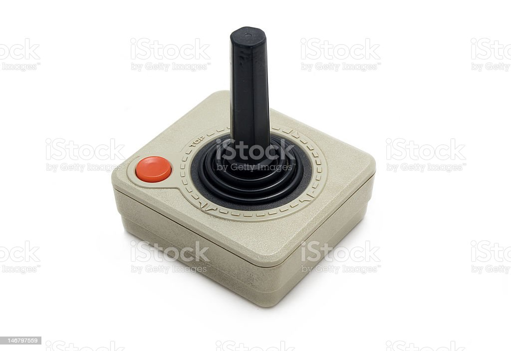 Old Joystick stock photo