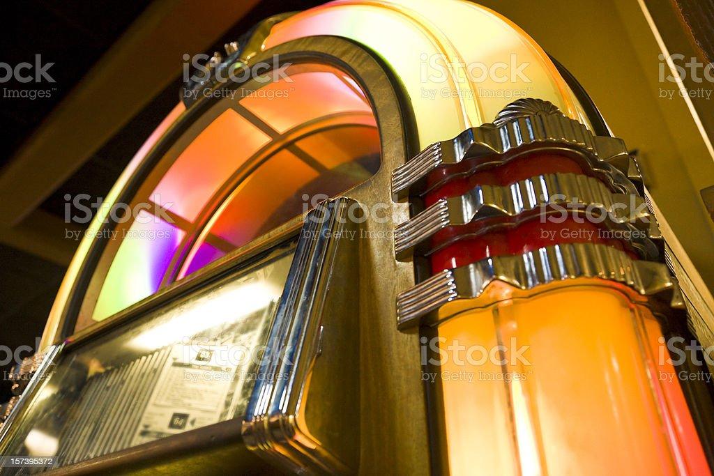 old jukebox retro nostalgia 50s music stock photo