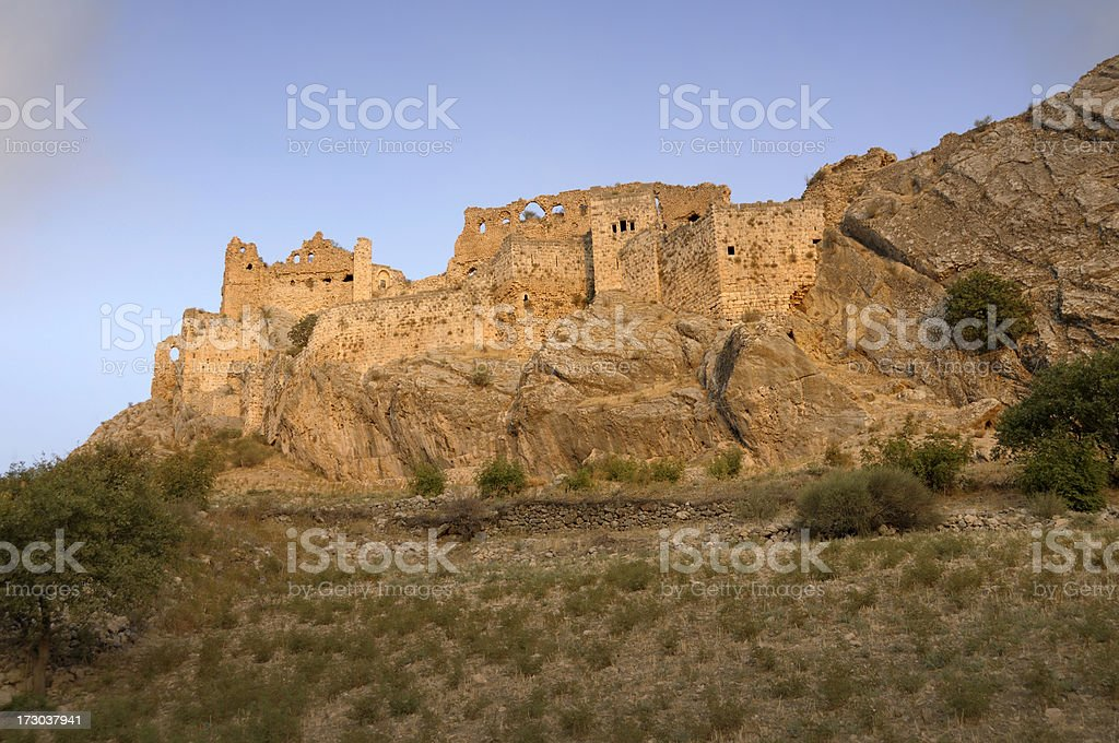 Old Kahta (New Fortress), Nemrut, Adiyaman, Turkey royalty-free stock photo