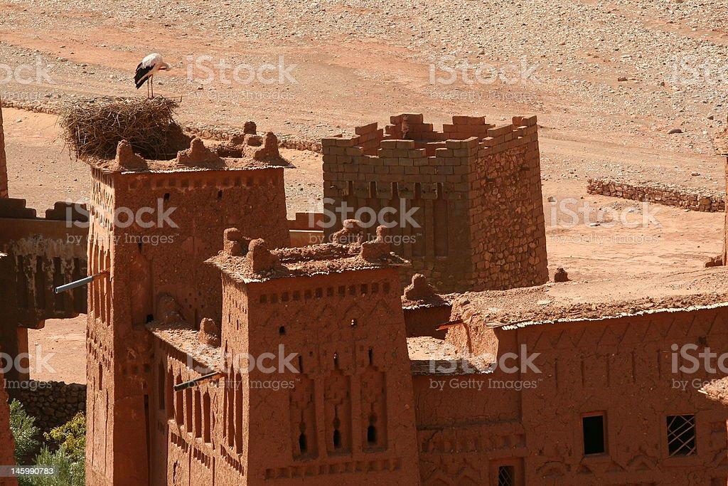 Old Kazba in Morocco stock photo