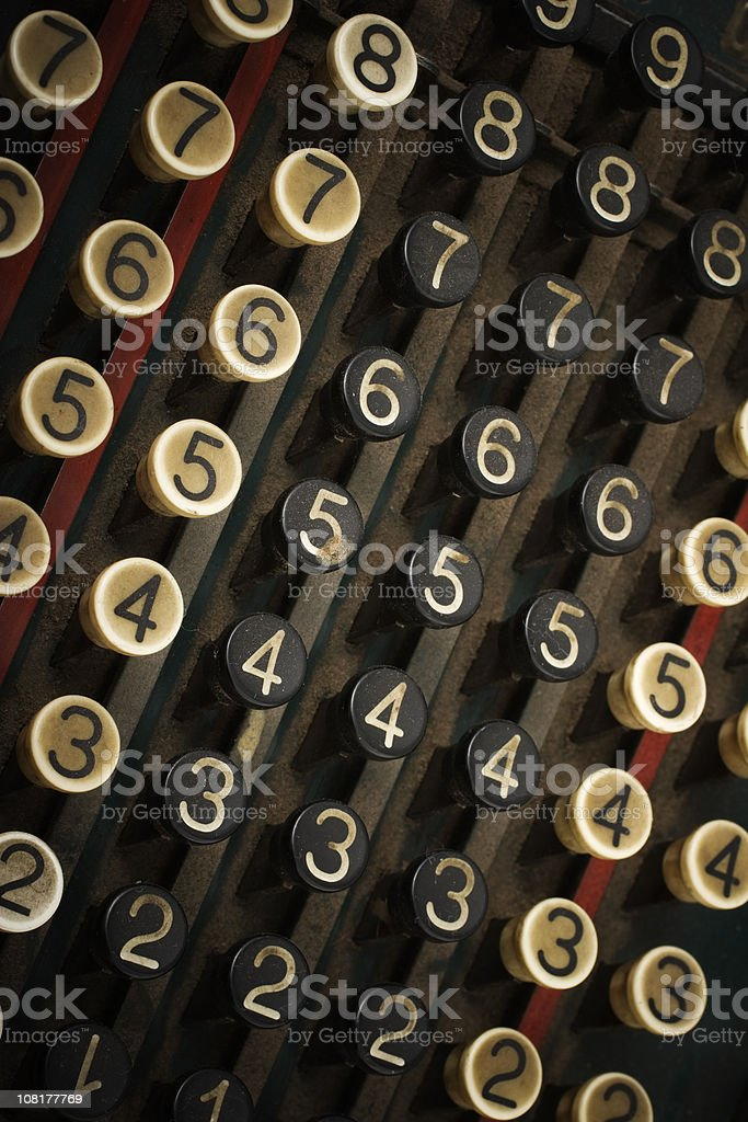 Old Keyboard on Typewriter royalty-free stock photo