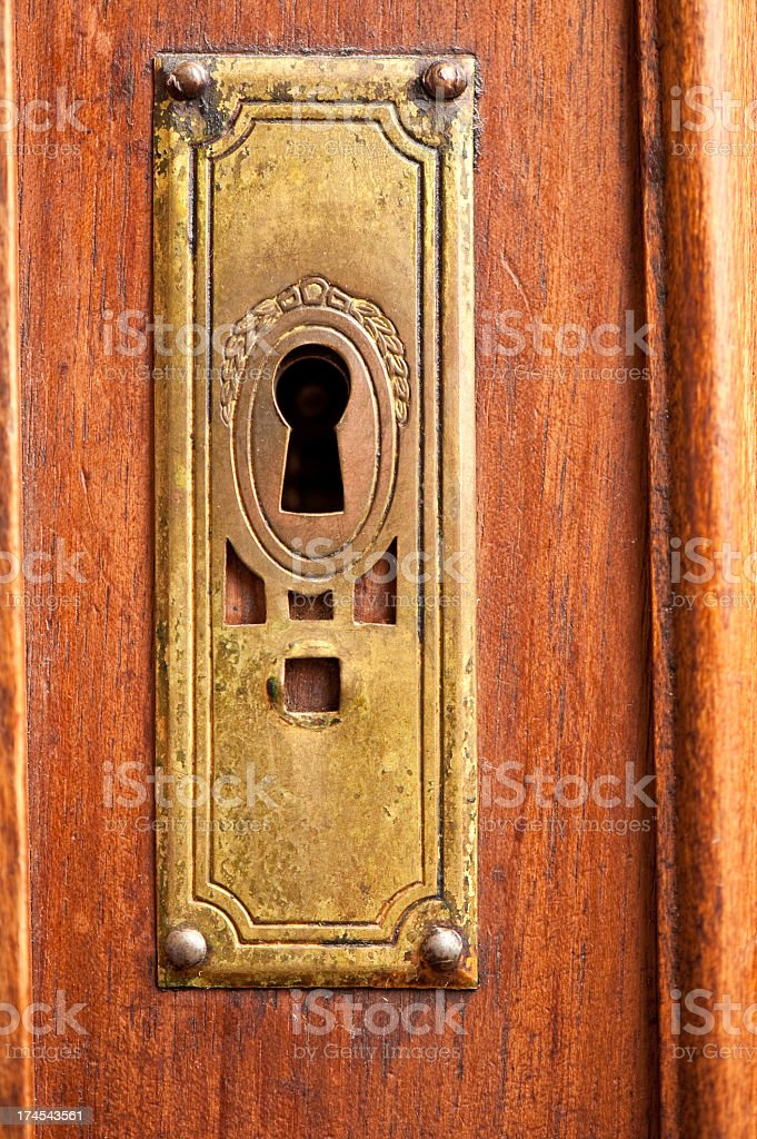 Old keyhole royalty-free stock photo