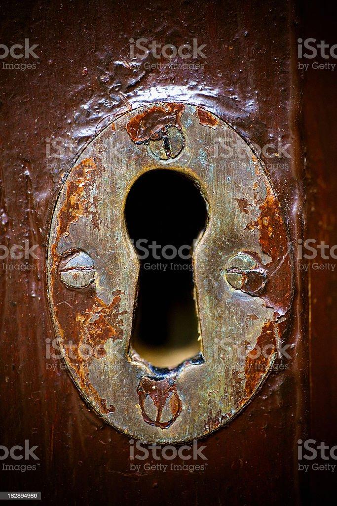 Old Keyhole royalty-free stock photo
