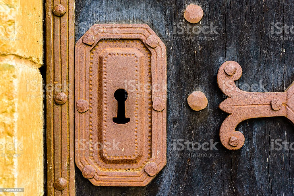 Old keyhole stock photo