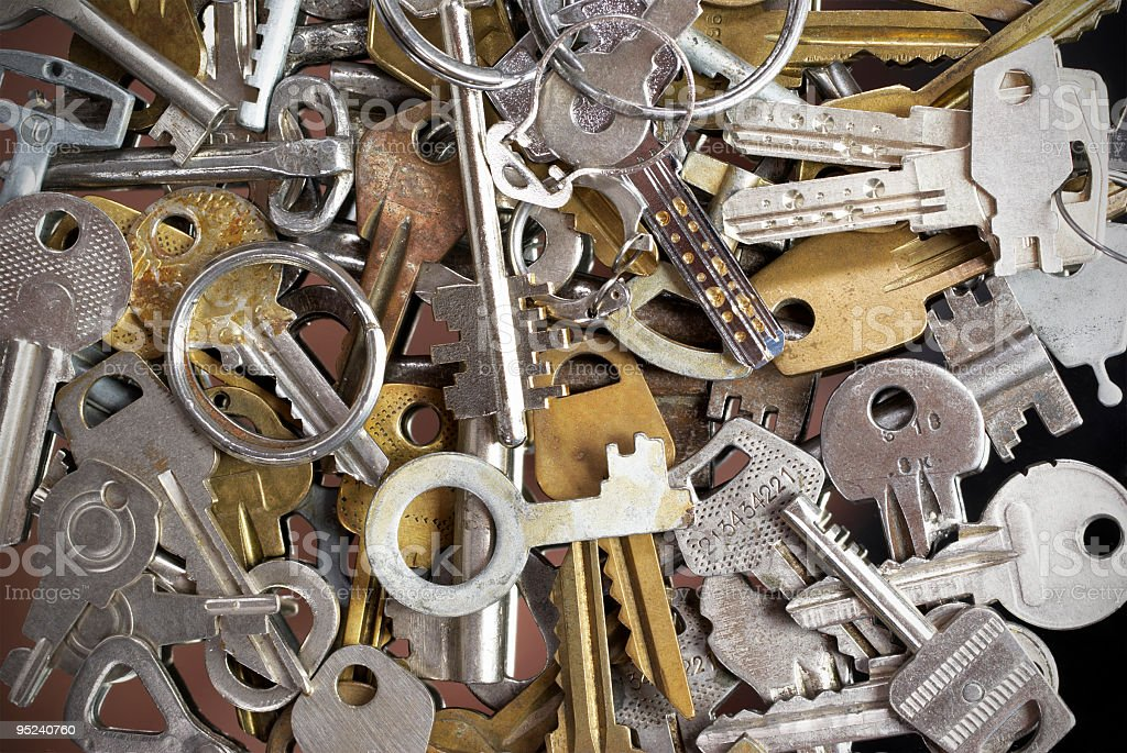 Old Keys Collection stock photo