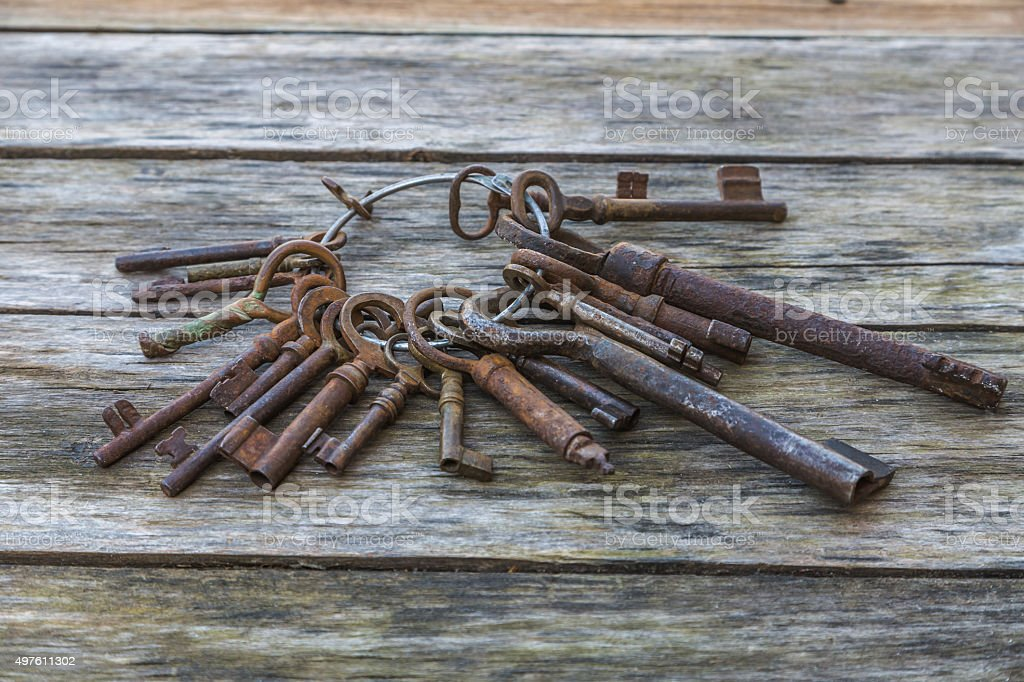 Old keys stock photo