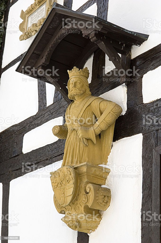 old king statue royalty-free stock photo