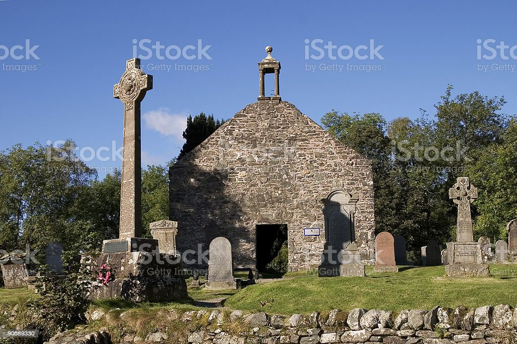 Old Kirk, Balquidder royalty-free stock photo
