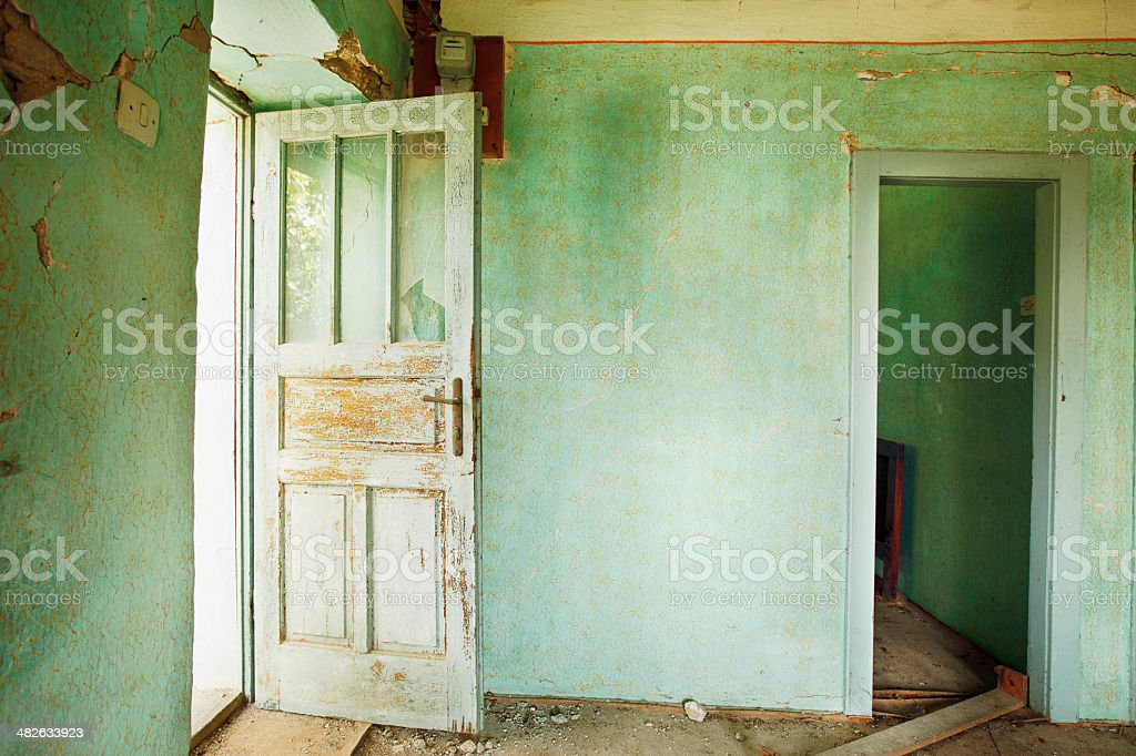 Old kitchen background - grunge interior royalty-free stock photo