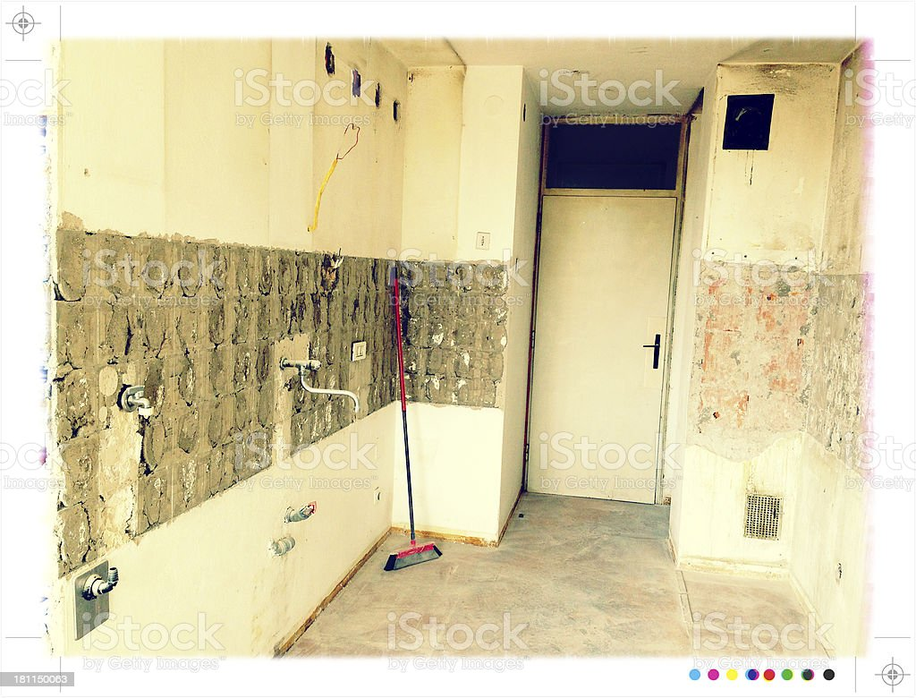 Old Kitchen Before Renovation royalty-free stock photo