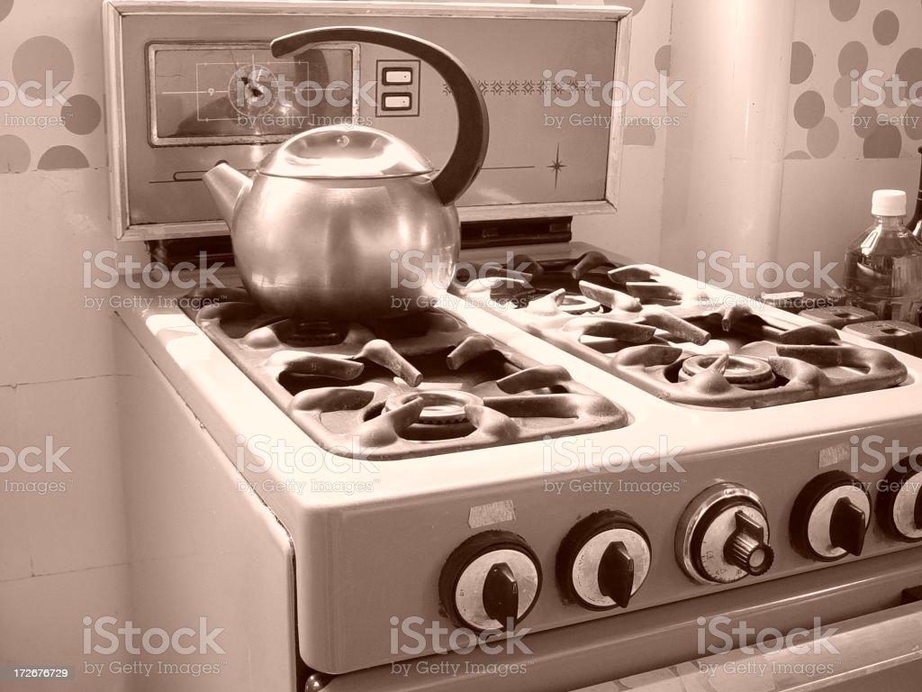 old kitchen stock photo