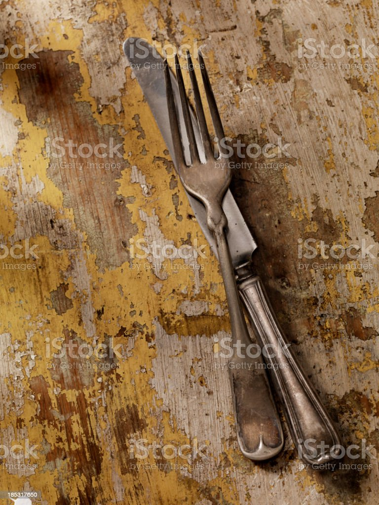 Old Knife and Fork royalty-free stock photo