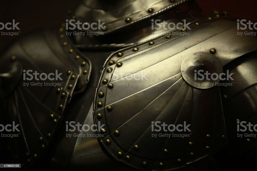 old knight's armor stock photo