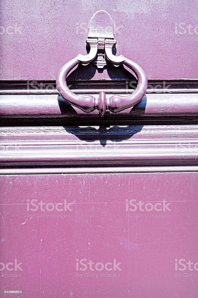 Old knocker, Paris, France stock photo