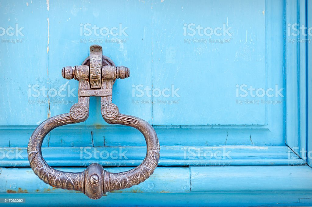 Old knocker, Paris, France stock photo