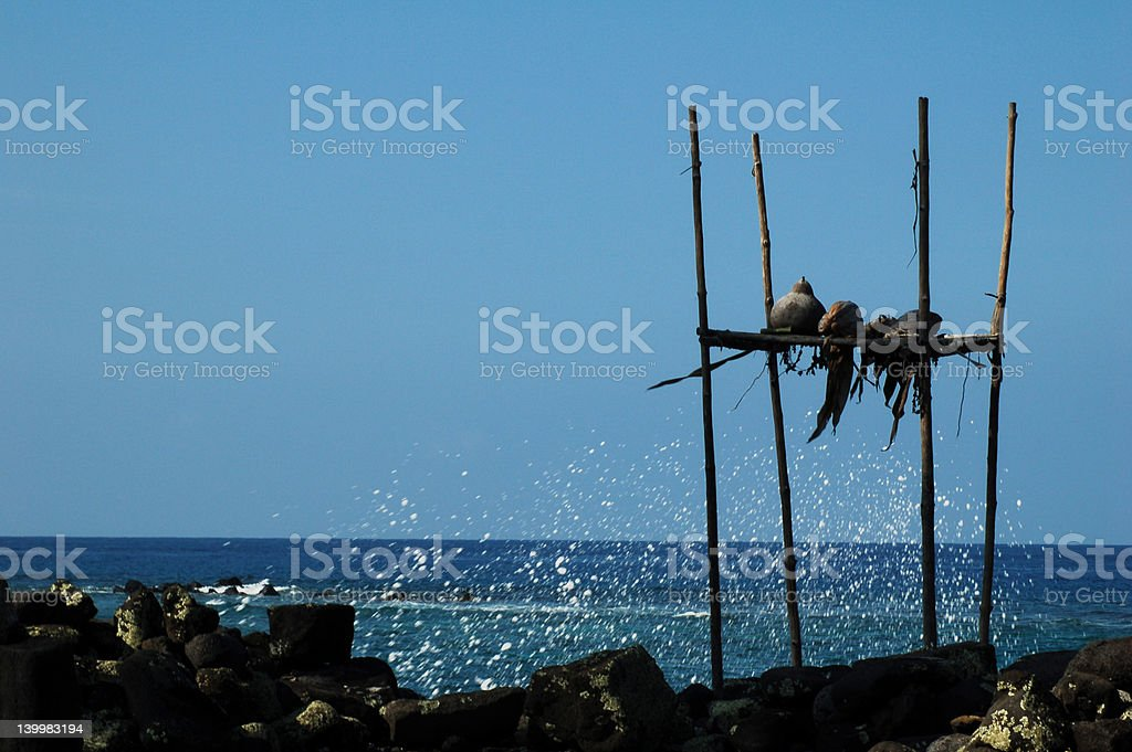 Old Kona Hawaii stock photo