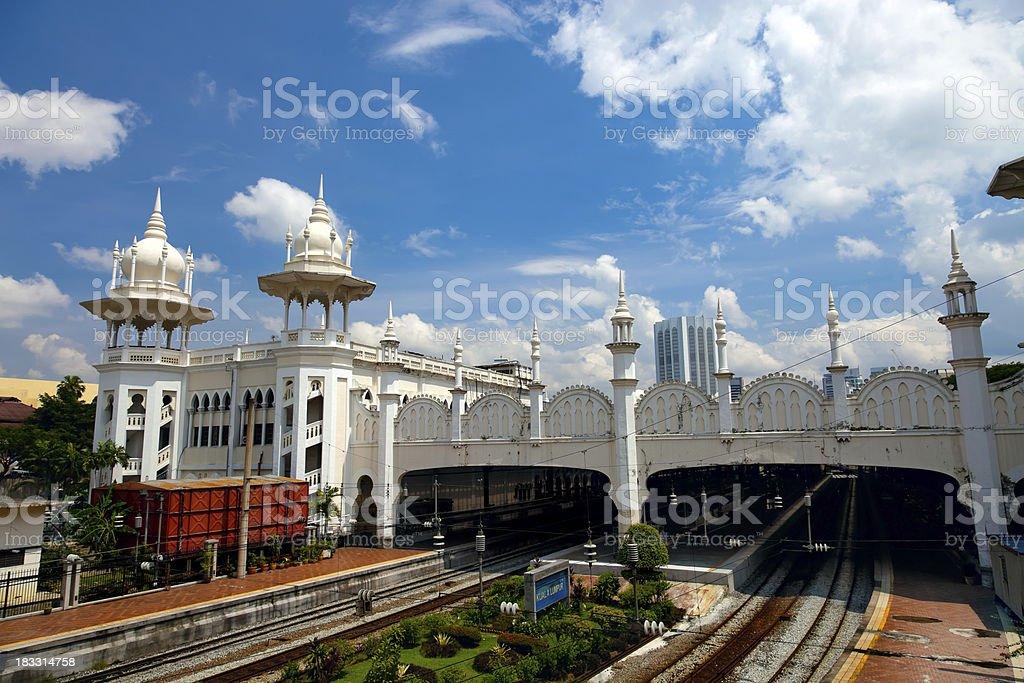 Old Kuala Lumpur Railway Station, Malaysia stock photo