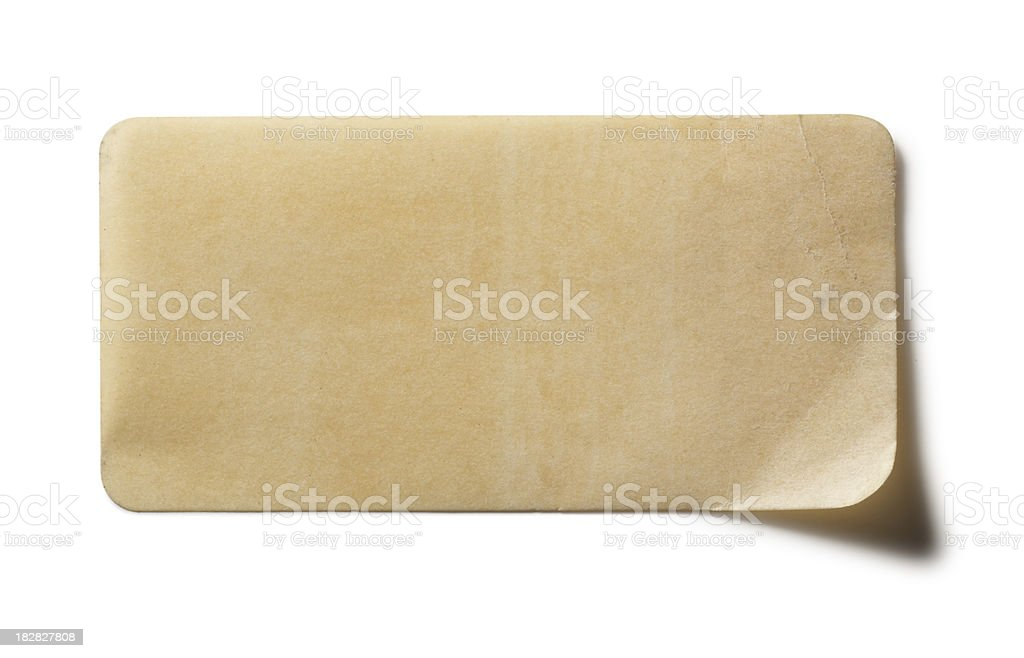Old Label stock photo