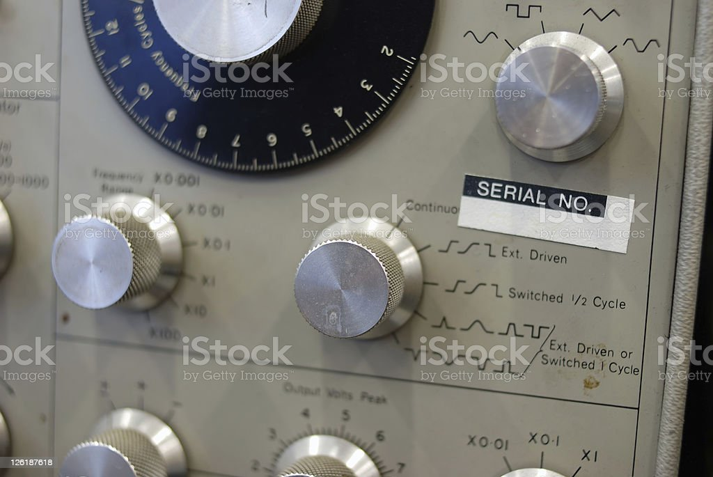 Old laboratory instrumentation stock photo