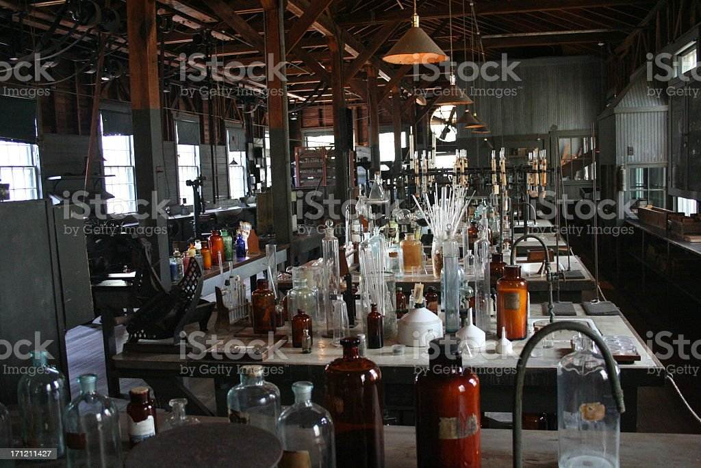 Old Laboratory stock photo