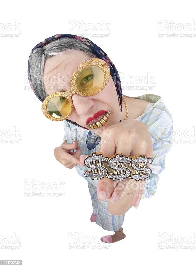 Old Lady Bling royalty-free stock photo