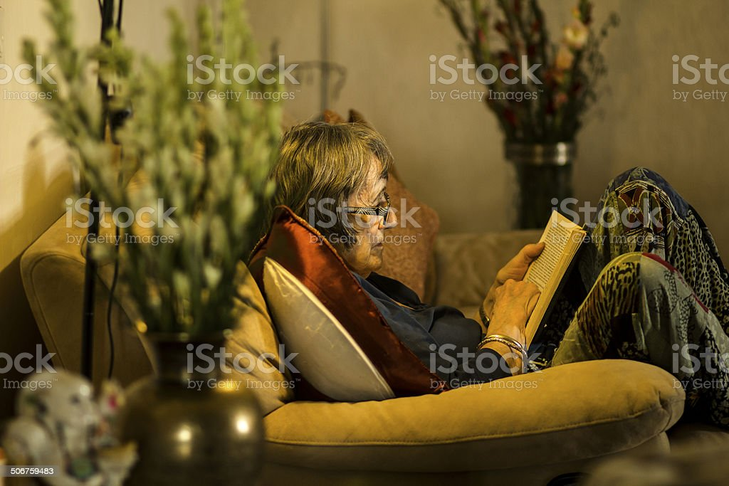 Old Lady stock photo