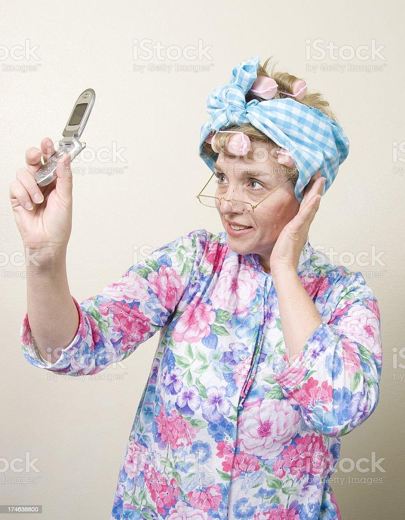 Old Lady Self Photo stock photo