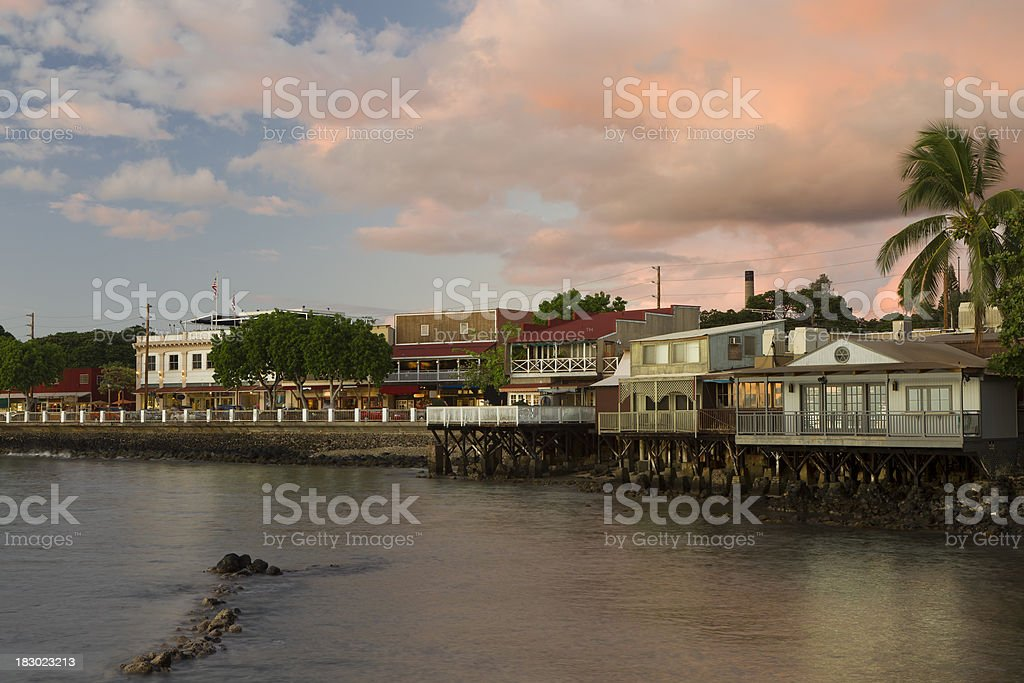 Old Lahaina Town stock photo
