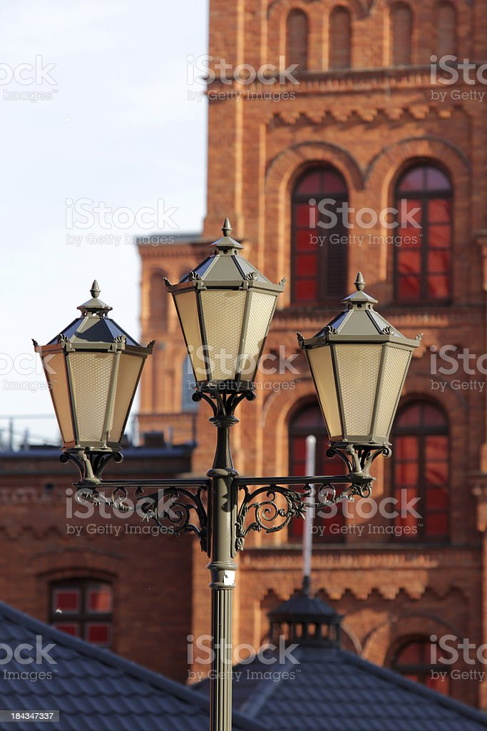 old lamp post stock photo