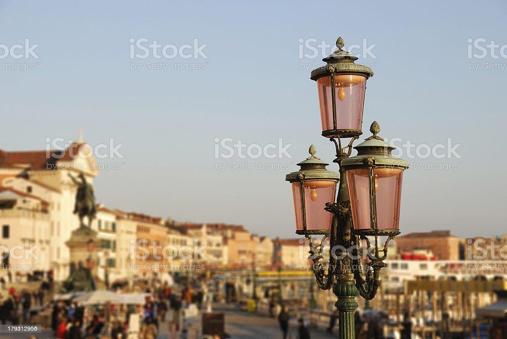 Old lantern in Venice royalty-free stock photo