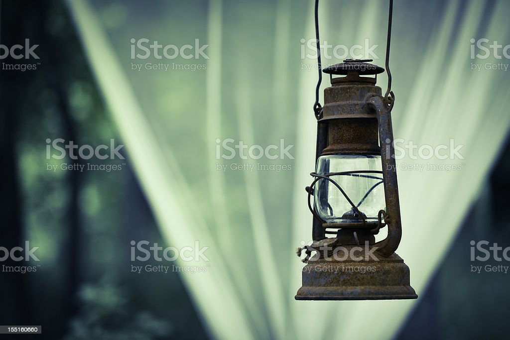 Old lantern stock photo