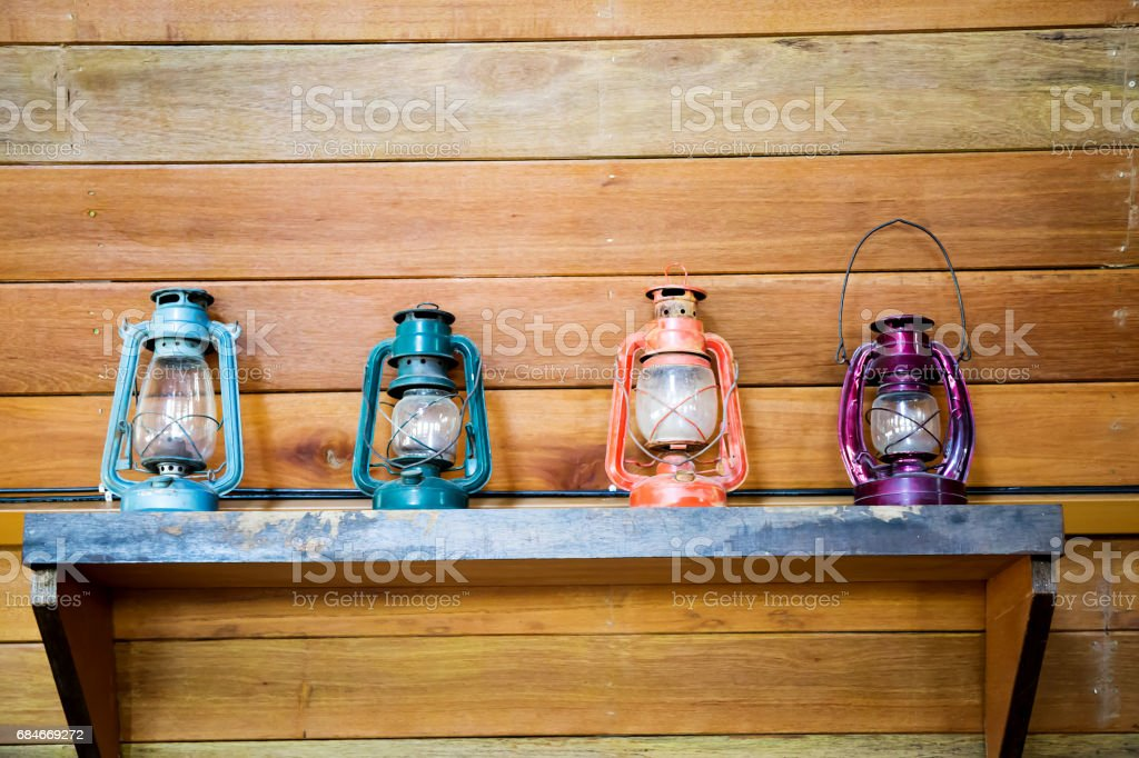 Old lantern stock photo