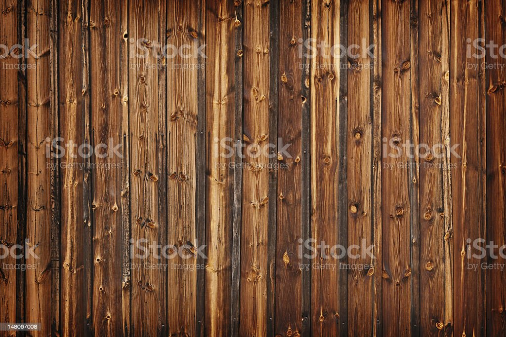 Old larch boards - grunge background stock photo