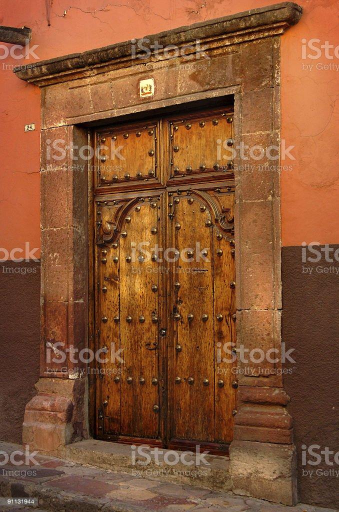 Old Latin Door royalty-free stock photo