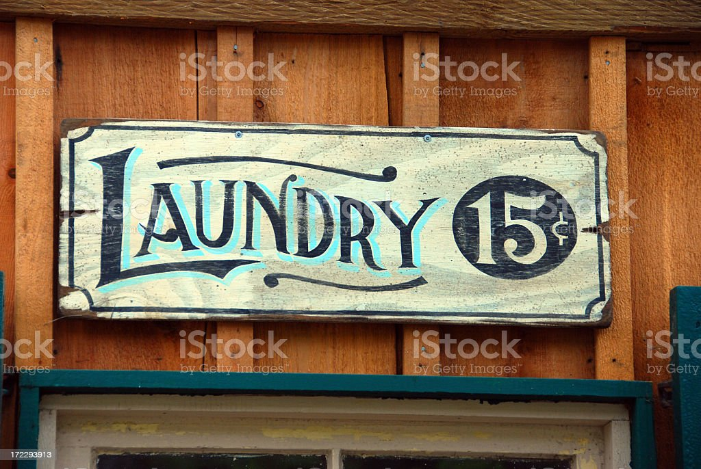 Old Laundry Sign royalty-free stock photo
