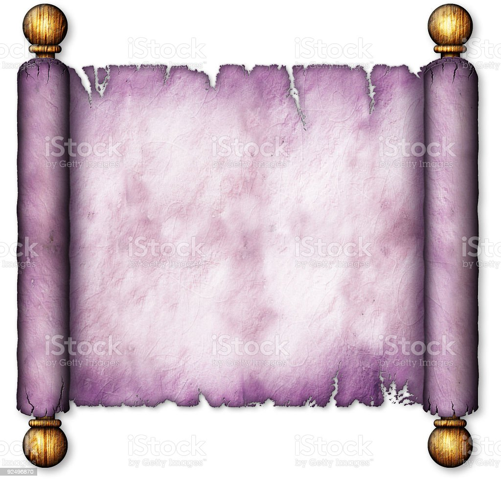 Old Lavender Scroll on Wooden Spindles royalty-free stock photo