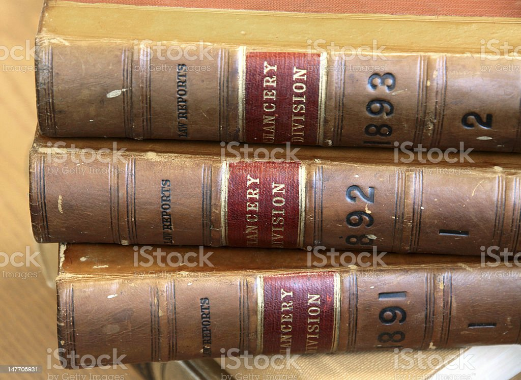 Old law books stock photo