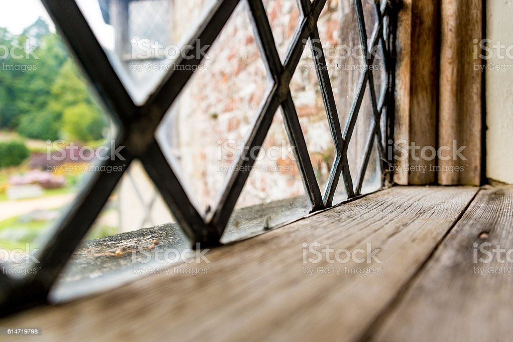 Old Lead Window stock photo