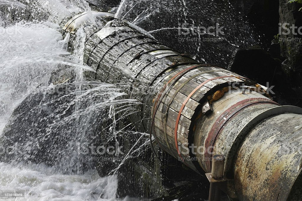 Old Leaking Pipe stock photo