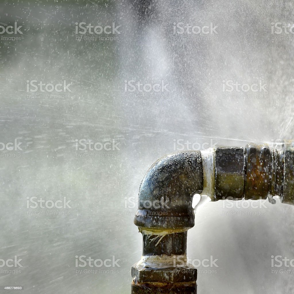 Old Leaky Pipes stock photo