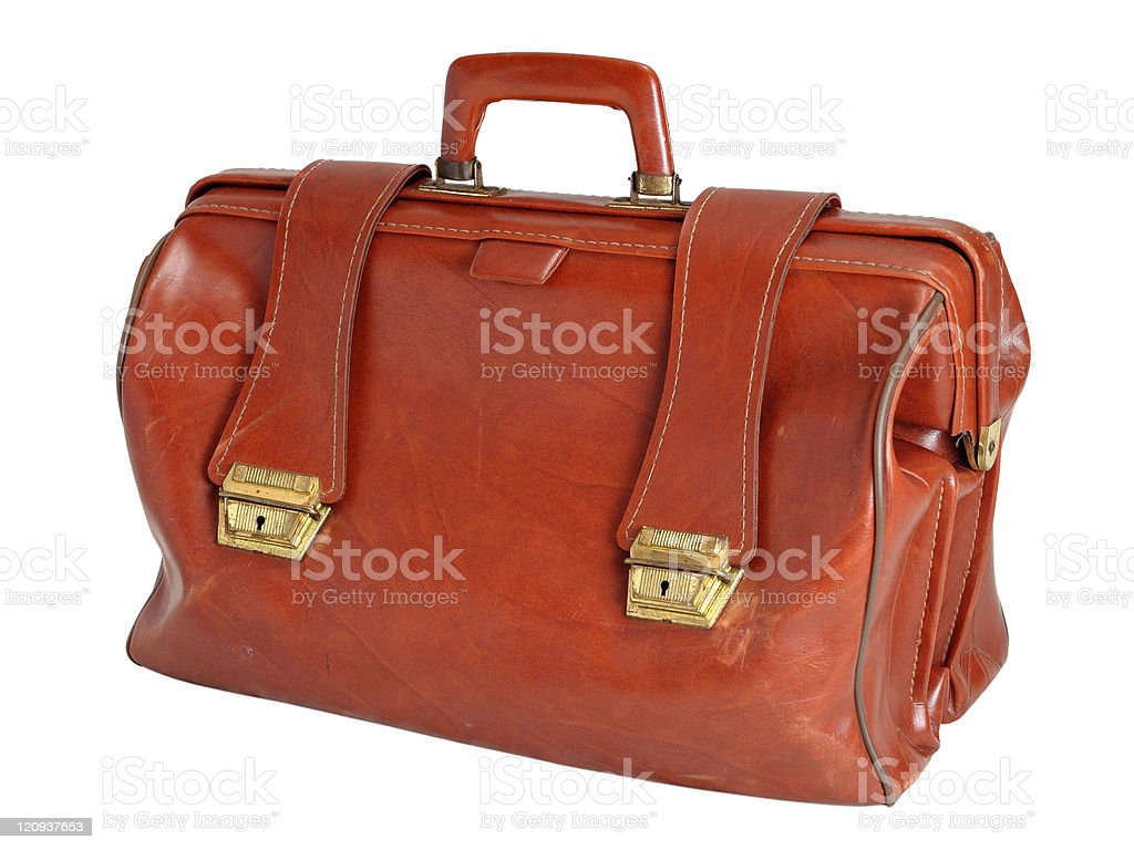 Old leather bag royalty-free stock photo
