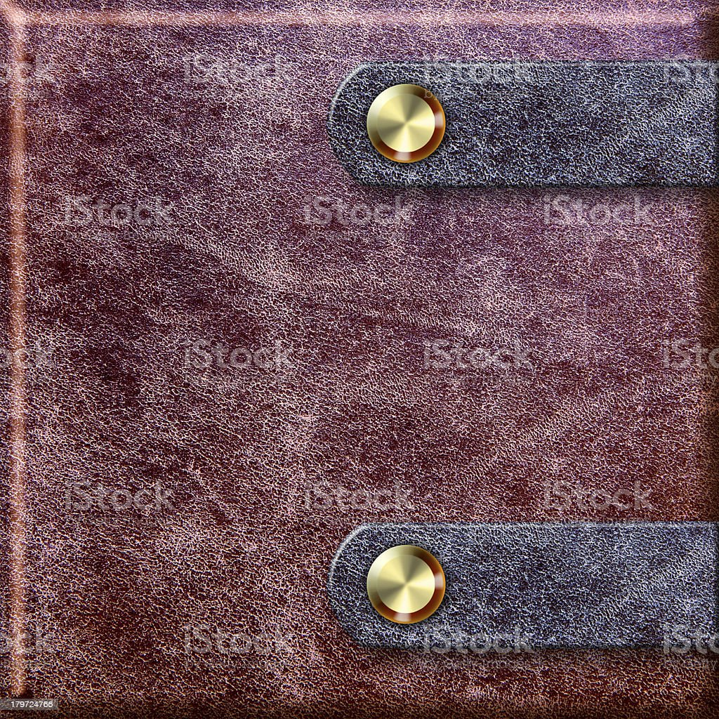 old leather binding with clasps royalty-free stock photo