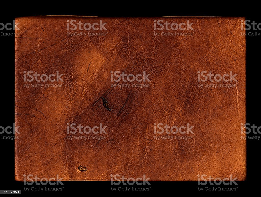 old leather book cover royalty-free stock photo