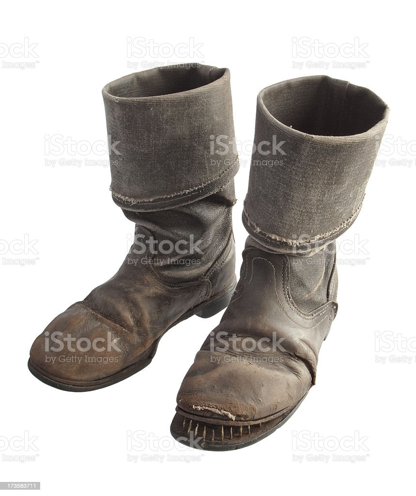 old leather boots royalty-free stock photo