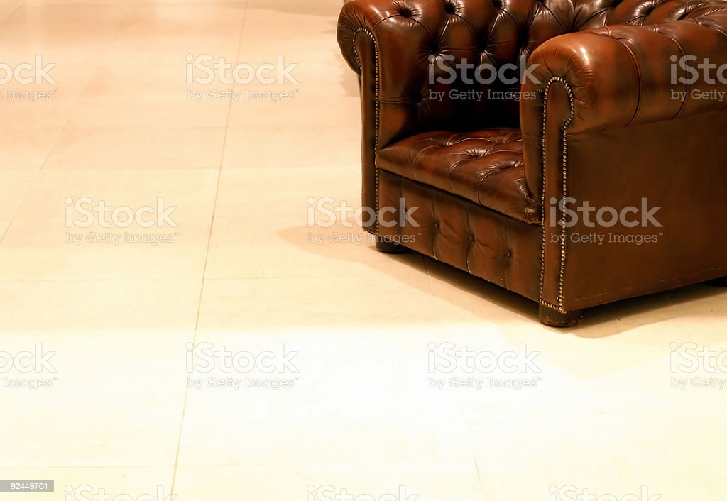 Old Leather Chair royalty-free stock photo