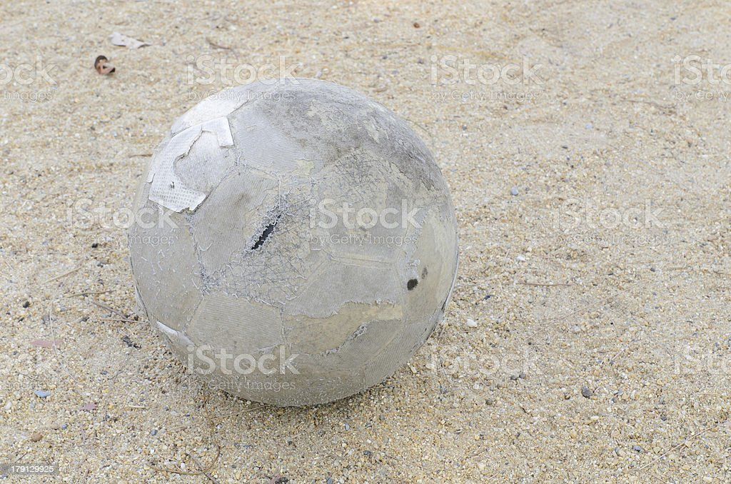old leather football closeup royalty-free stock photo