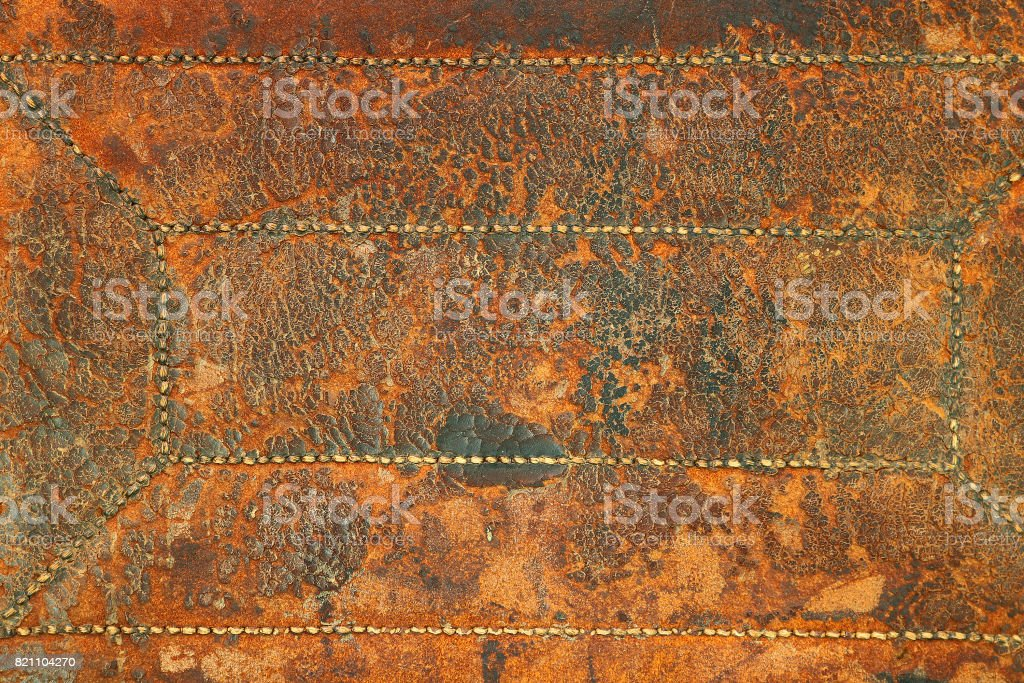 old leather of chair stock photo