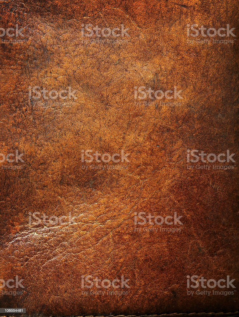 Old leather with tattered eges royalty-free stock photo